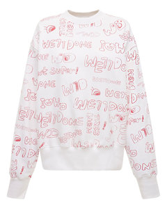 Graffiti Logo Cotton Jersey Sweatshirt