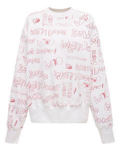 Graffiti Logo Cotton Jersey Sweatshirt