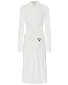 绉纱针织衬衫裙