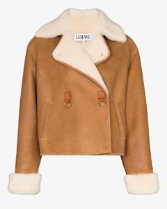 cropped shearling jacket