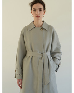 TOS Minimal Trench Coat (Mint Grey)
