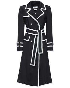 Knee Length Silk Trench Dress
