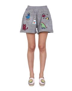 Black stretch-knit cycling shorts