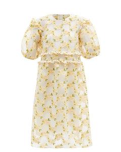 Theodore floral fil-coupéorganza dress