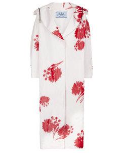 Floral silk taffeta coat