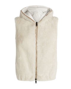 Reversible Faux Shearling Padded Gilet
