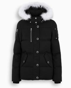 Women's black/white 3Q down jacket