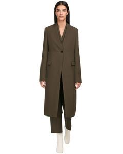 Wool Single Breasted Coat