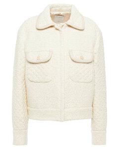 Woman Tedy Metallic Cotton-blend Tweed Jacket