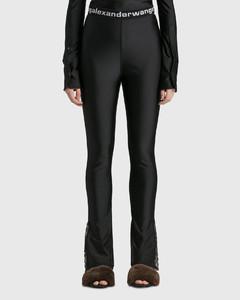 Legging W/ Lace Slit Hem