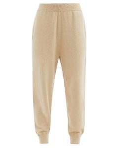 No. 56 Yogi stretch-cashmere track pants