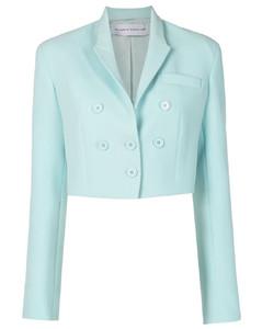 Light blue denim peplum jacket