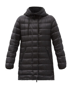 Logo-patch quilted-shell down coat
