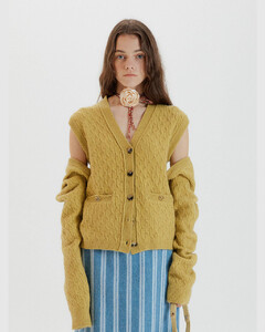TAG Bolero and Vest Set Cardigan (Yellow)