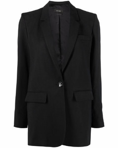 Puff-sleeved wrapover leather dress