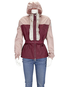 Ladies Cinabrea Ruffle Trimmed Parka