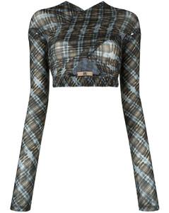 Army green ribbed-knit mini dress