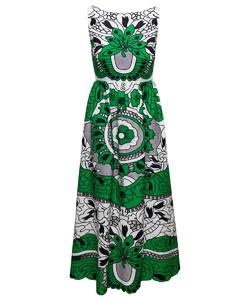 High Rise A-Line Denim Skirt
