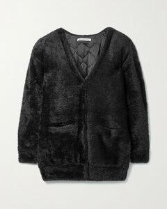 Oversized Padded Faux Fur Cardigan
