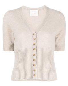 sleeveless raw-cut coat