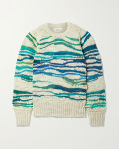 Serena Striped Wool-blend Sweater