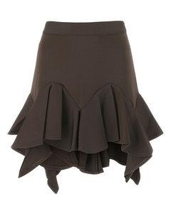 jacquard hive motif skirt