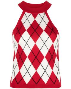 Double-Zip Skirt in Blue