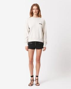 """白色""""I Heart MW""""短款连帽衫"""