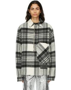 灰色格纹羊毛夹克