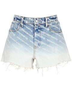 Bite dégradélogo-print denim shorts