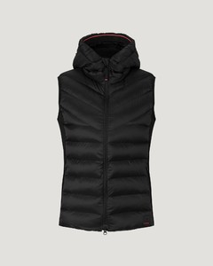 Rhea Quilted Waistcoat in Black