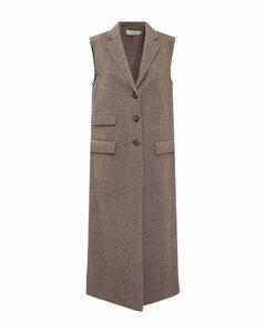 Single-Breasted Sleeveless Coat