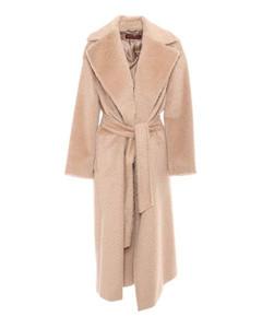 Velour Track Sweatshirt In Blue Velvet