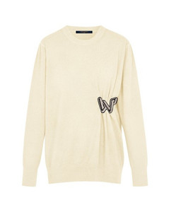 Knitted Pullover With Embroidered Patch