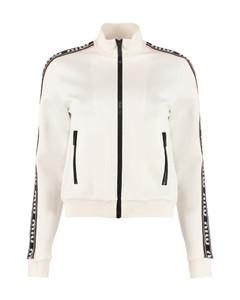 Full Zip Sweatshirt With Side Stripes
