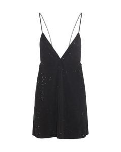 灰白色Lamé 细条纹大衣