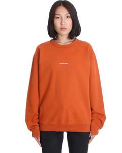 Fierra Stamp Sweatshirt In Orange Cotton