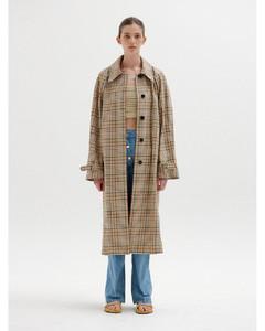 SELISSA Mac Coat (Beige Check)