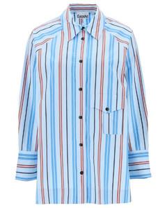 Laure checked linen-blend gauze midi dress