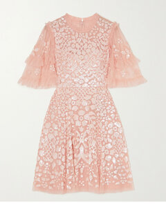 Aurelia Sequin-embellished Ruffled Tulle Mini Dress