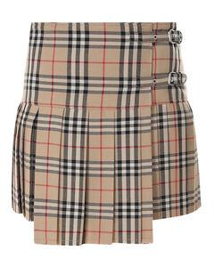 Vintage check patterned skirt