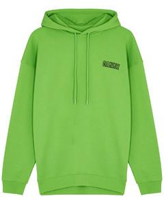 Software Isoli green hooded cotton sweatshirt