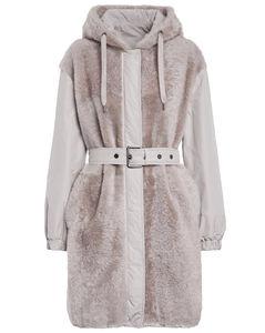 正反两穿羊毛皮派克大衣