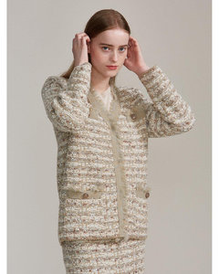 (Priority Shipping) Tweed knit jacket (2colors)
