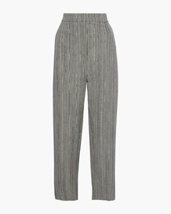 Haim Prince of Wales checked cotton and linen-blend wide-leg pants