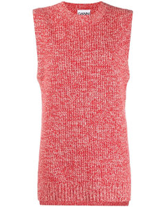 marled knitted vest top