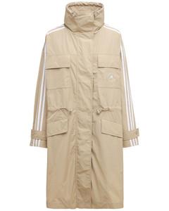 Oversized Trenchcoat Aus Baumwolle Und Technostoff
