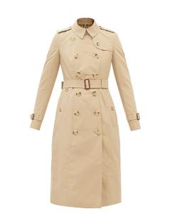 Chelsea cotton-gabardine trench coat