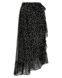 Lurex Dot Wrap Skirt