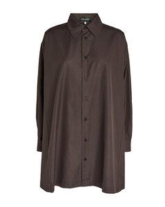 Black double cashgora coat
